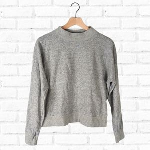 Everlane French Terry Mock Neck Sweatshirt